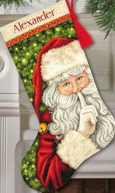 christmas stockings cross stitch kits - Dimensions Crafts Needlecraft Secret Santa Stocking in Counted Cross Stitch *** Continue to the product at the picture web link. (This is an affiliate link). Santa Cross Stitch, Cross Stitch Christmas Stockings, Cross Stitch Stocking, Christmas Stocking Pattern, Xmas Stockings, Counted Cross Stitch Kits, Santa Stocking, Stocking Hanger, Cross Stitch Embroidery