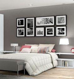 Cinza e rose uma combinação relaxante e moderna. Os quadros em preto e branco dão um toque de personalidade ao ambiente. #decoration #instadecor #instahome #casa #home #interiordesign #homedesign #homedecor #homesweethome #inspiration #inspiração #inspir