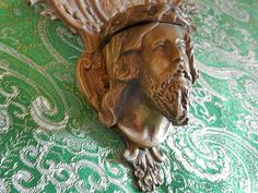 Antique French Religious Bronze Benitier. by AngelFrenchAntiques