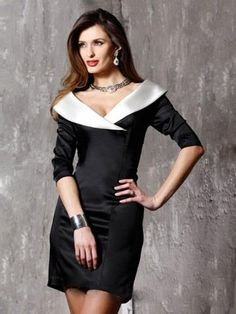 2013 Style Sheath _ Column V-neck  3_4-Length Short _ Mini  Satin Black Cocktail Dress _ Homecoming Dress. br_Product Name2013 Style Sheath _ Column V-neck  3_4-Length Short _ Mini  Satin Black Cocktail Dress _ Homecoming Dressbr_br_Weight2kgbr_br_ Start From1 Unitbr_br_ br_br_SilhouetteSheath , Columnbr_b.. . See More V-Neck at http://www.ourgreatshop.com/V-Neck-C976.aspx