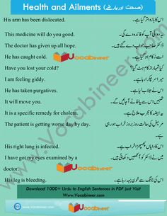 Learn English vocabulary in Urdu. English through Urdu made easy. Easiest way to learn English vocabulary in Urdu. English to Urdu Vocabulary. Basic English Sentences, English Grammar Tenses, Learn English Grammar, English Vocabulary Words, English Phrases, English Vinglish, English Reading, English Tips, English Lessons