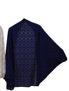 Royal blue kimono, kimono cardigan, lacy cape/kimono!