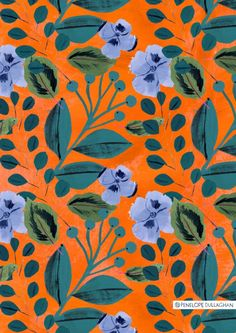 Obsessed with this floral pattern Illustrator Penelope Dullaghan Textile Patterns, Flower Patterns, Color Patterns, Print Patterns, Fun Patterns, Design Patterns, Dress Patterns, Surface Pattern Design, Pattern Art