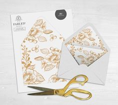Printable Envelope Liner Template Instant Download For A And