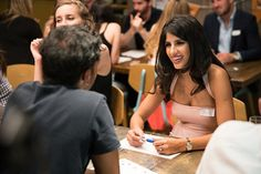 Essex star Jasmin Walia at the speed dating event organised to raise money for Stand Up To Cancer
