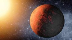 """Planets around red dwarfs are more likely to always have one side facing the star. Researchers call this """"tidal locking. List Of Planets, Super Earth, Red Dwarf, Gas Giant, Dwarf Planet, Star System, Interesting News, Milky Way, Waiting"""