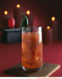 Hot Nantucket Night #Cocktail #Recipe - a spicy concoction for # ...