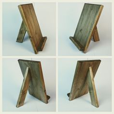 Wooden tablet holder, iPad stand