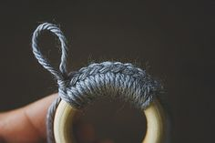 Simple Statement Ornaments - crocheted rings - there is also a link to a Simple Statement Wreath..