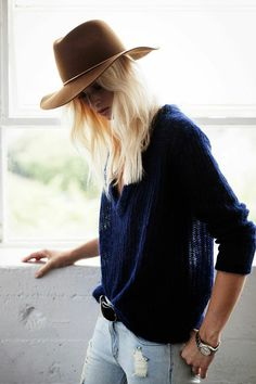 The Brimmed Felt Hat Is Everything & Here's How to Wear It #RueNow