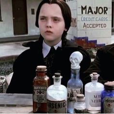 All major credit cards accepted. Wednesday Addams