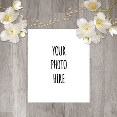Instant Digital Download Gold Star White Flower by ChangingVases, $5.00