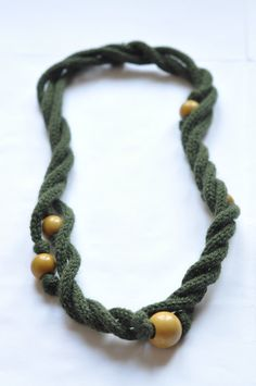 beaded i-cord necklace