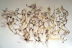 crayon aquarelle cern relief
