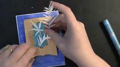 PB&J Pocket Treasures Card: Tone-on-Tone Background Stamping