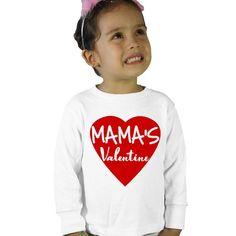 Mama's Valentine Kids Long Sleeve T-Shirt by shirtsbynany on Etsy Love My Kids, Valentines For Kids, Baby Bodysuit, Workout Shirts, Kids Shirts, Super Cute, Graphic Sweatshirt, Sweatshirts, Long Sleeve