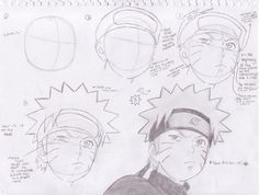 sorry about all of the writting lol if there's anything u cant read or have any questions just leave a comment How to draw Naruto Naruto Sketch Drawing, Naruto Drawings, Anime Drawings Sketches, Naruto Art, Anime Sketch, Manga Drawing, Anime Naruto, Manga Art, Pencil Drawings