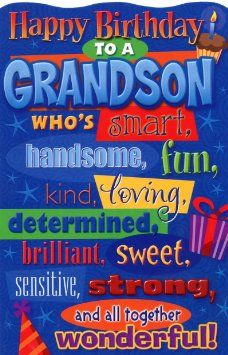 Happy Birthday Grandson Images Wishes For Him