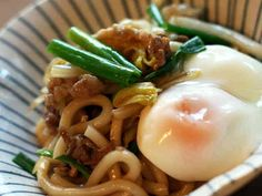 This recipe is in Japanese. I'm just not far enough in my studies to read all that kanji yet. Japanese Dishes, Japanese Food, Cooking Time, Cooking Recipes, Japanese Noodles, Asian Recipes, Ethnic Recipes, Comfort Food, Cook At Home