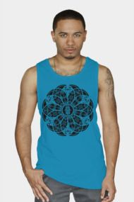 Hamsa Eye Lotus Mandala - Black