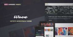 Download and review of Wave - WordPress Theme for Artists, one of the best Themeforest Creatives themes