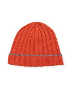 9675915b938 from Neiman Marcus · Cashmere Ribbed Beanie Hat · Brunello CucinelliBeanie  ...