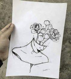 Ear Piercing Ideas For Females Imagen de Drawing and Flower .- Ear Piercing Ideas For Females Imagen de Zeichnung und Blumen – Pinspace Ear Piercing Ideas For Females Imagen de drawing and flowers – - Sketch Art, Art Drawings Sketches, Tattoo Sketches, Pencil Drawings, Drawing Art, Unique Drawings, Ideas For Drawing, Drawing Tattoos, Flower Tattoos