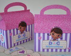 Doc McStuffins Stuffy's checkup bag favor box by GlitterInkDesigns
