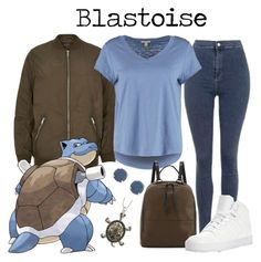 009: Blastoise by waywardfandoms on Polyvore featuring polyvore fashion style ESPRIT River Island Topshop adidas French Connection Capelli New York Jessica Simpson clothing Pokemon