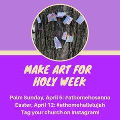 At Home Hosanna, At Home Hallelujah- Community Art Project – Christine V Hides Palm Sunday, Easter Art, Holy Week, Sidewalk Chalk, Community Art, Art Projects, Encouragement, Messages, Lent