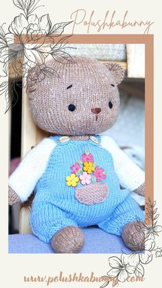 Knitting Basic Overalls Pattern Doll clothes Pattern by Polushkabunny