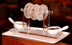How about a #donut for #dessert? We love this donut at Fix at Bellagio in #Vegas.