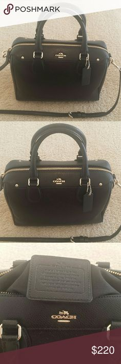 FINAL!! AUTHENTIC Coach Handbag 1 outside zipper 1 inside zipper and inside pocket for Keys or phone. Carried 2 times. Coach Bags Crossbody Bags