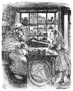 """Illustration by John Tenniel from """"Alice Through the Looking Glass"""""""