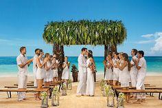 Celebrate your vows on the beach with family and friends #SecretsAkumalRivieraMaya #Mexico #DestinationWedding