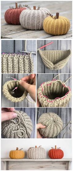 Little Rustic Pumpkin - Learn to Crochet - Crochet Kingdom - - This Little Rustic Pumpkin tutorials look unique and interesting. And yet, they are made using super-basic crochet stitches so that they are a simple. Crochet Diy, Chat Crochet, Crochet Fall, Crochet Amigurumi, Holiday Crochet, Crochet Basics, Crochet Home, Learn To Crochet, Crochet Crafts