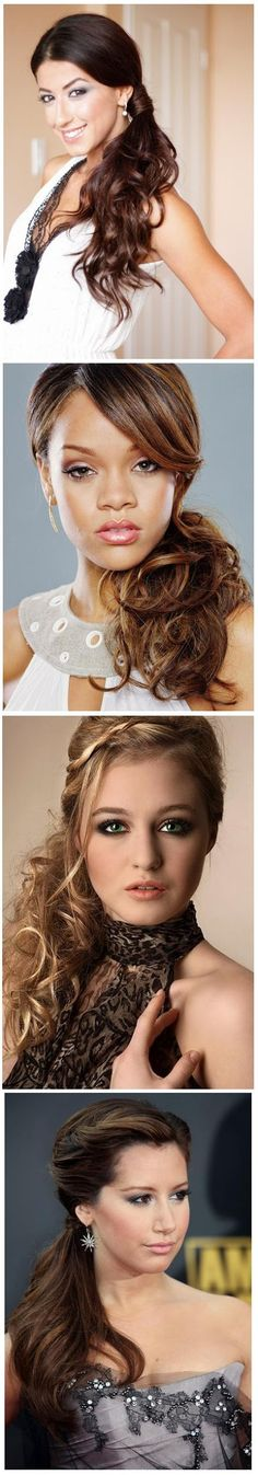 4 Different Sided Ponytail Hairstyle   hairstyles tutorial