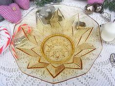 Vintage Schalen - vintage Sternchen Schale Schüssel shabby chic Glas - ein Designerstück von artdecoundso bei DaWanda