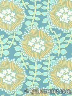 August Fields HDABS13-Aqua Home Decor Fabric by Amy Butler