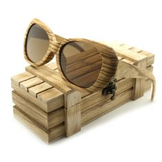 BOBO BIRD New Fashion Men's Polarized Bamboo Zebrawood Brand Design With Reflective Mirror Tint gafas de sol