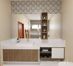 Wc | Banheiro | Bathroom por NP Interiores - Núbia Procópio Interiores.  Revestimento MEDITERRÂNEO - CEUSA