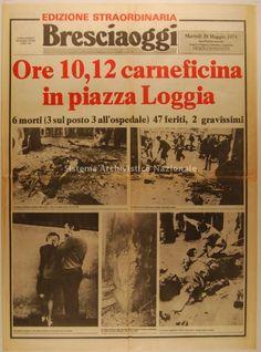 Brescia Oggi - edizione straordinaria  Strage di Piazza della Loggia 28.5.1974