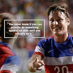 U.S. women's soccer player Abby Wambach