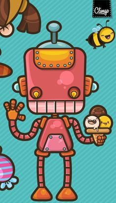 Kawaii Friends by Claudia Murillas, via Behance