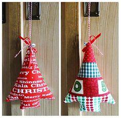 Weihnachtsbaum - Anhänger nähen