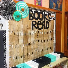 This is hands down my favorite bulletin board in our class! I can't wait to fill it with pictures of the books we read throughout the year!…