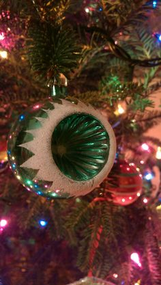 Vintage Christmas ornament on our 2017 tree!
