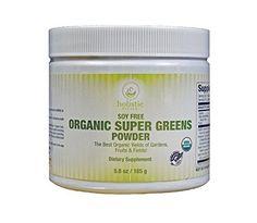 Holistic Vitals Organic Super Greens Powder 30 servings easily mixed and natural flavored