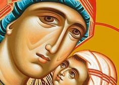 St. Anna, Mother of the Most Holy Theotokos, with her Holy daughter Maria as a child