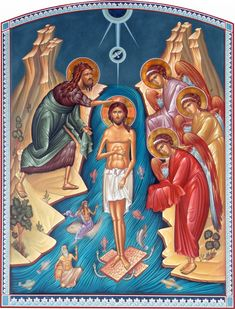Epifanía Baptism Of Christ, Jesus Christ, Hope Beel, Life Of Christ, Divine Mercy, John The Baptist, Religious Icons, Orthodox Icons, Saints